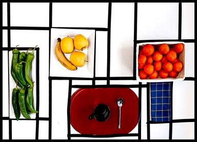 Mondrian's kitchen table